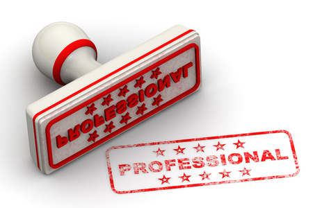 Professional. Seal and imprint