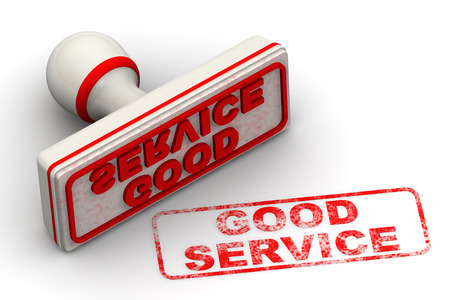 good service: Good service. Seal and imprint