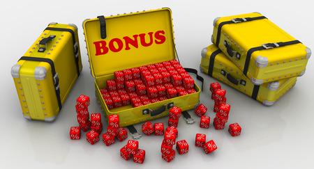 remuneraciones: Maletas con bonos. Concepto financiero