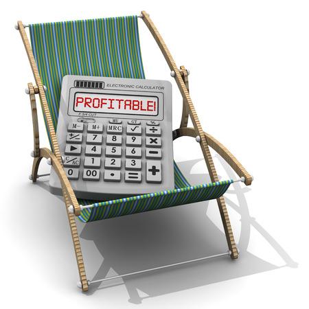 holiday profits: Profitable holiday. The concept Stock Photo