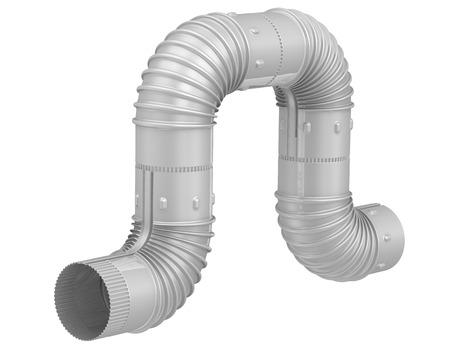 codo: Tubo acodado de acero. Conexión. Aislada