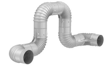 Stahlrohrbogen. Verbindung. Isoliert Standard-Bild - 42848493