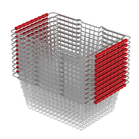 shopping baskets: Shopping baskets, stacked