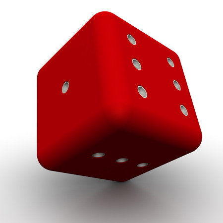 red dice: Red dice on a white surface
