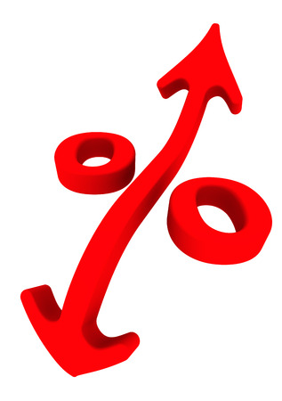 interest rate: Symbol of interest rate changes