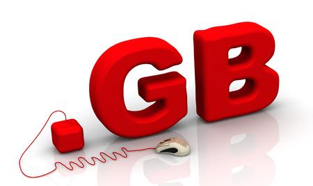 prefix: English domain .gb