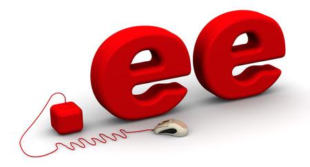 prefix: Estonian domain .ee Stock Photo