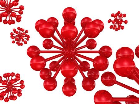 molecule abstract: Molecule. Abstract figure Stock Photo