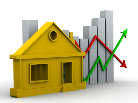 the property: Changes in property prices. Concept