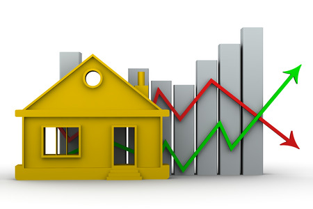 Changes in property prices. Concept