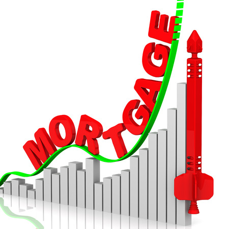 fluctuations: Rising cost of mortgage. Concept