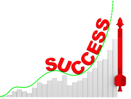 volatility: Success. Growth chart Stock Photo