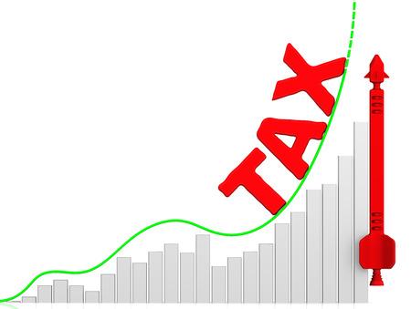 volatility: Tax. Growth chart Stock Photo