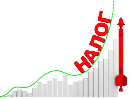 volatility: Tax. Growth chart Foto de archivo