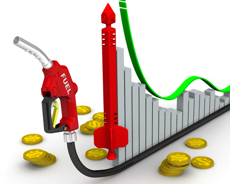 rising prices: Rising prices for automobile fuel