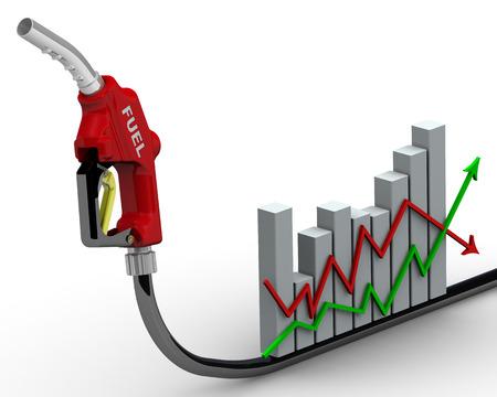 volatility: Los cambios en los precios del combustible Foto de archivo