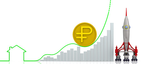 volatility: Rising real estate prices. Concept