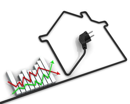 electricidad: Los cambios en las tarifas de electricidad. Idea Foto de archivo