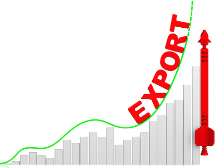 volatility: Export. Growth chart Stock Photo
