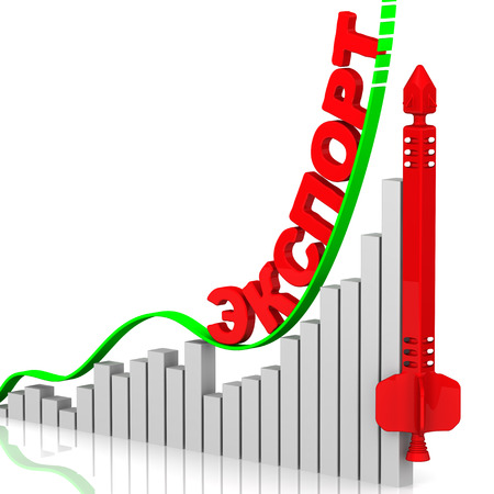 volatility: Export. Growth chart Foto de archivo
