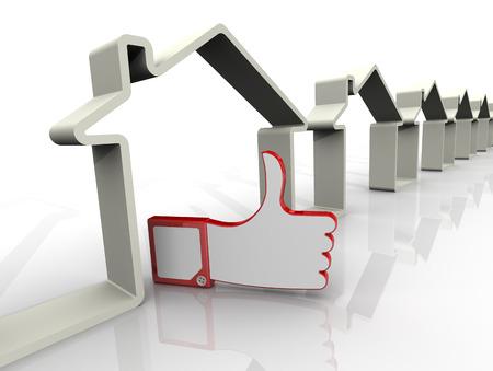 zakelijk: De keuze van het vastgoed. Concept