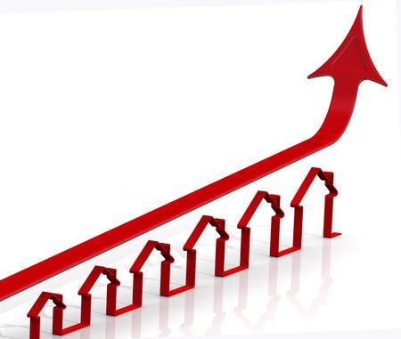 crecimiento: El aumento de los precios de bienes raíces. Idea