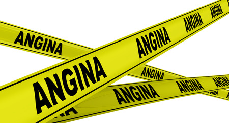 angor: Angina de pecho. Cintas de advertencia amarillas