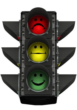 permitting: Traffic light of mood Stock Photo