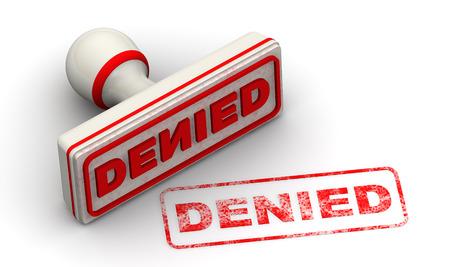denied: Denied.   Stock Photo