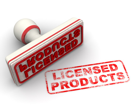 licensed: Licensed products. Seal and imprint