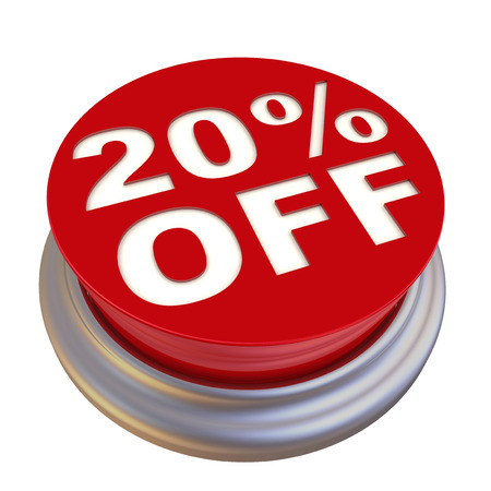 20: Red button labeled 20 percent Off