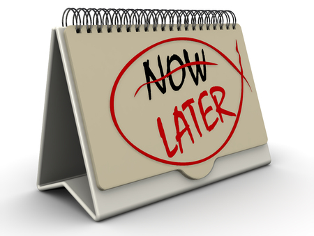 later: Later. The concept of changing the priority