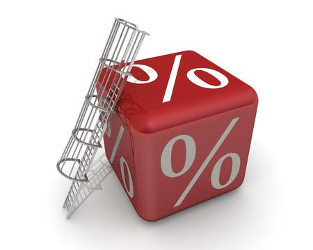 percentage: Large percentage. Concept Stock Photo