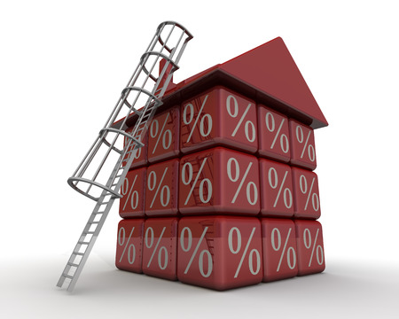 interest rates: High interest rates on mortgages. Concept Stock Photo