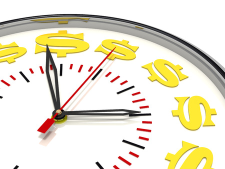 money concept: Time is money. Concept