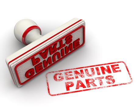 imprint: Genuine parts. Seal and imprint Stock Photo