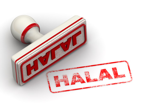 Halal. Seal and imprint