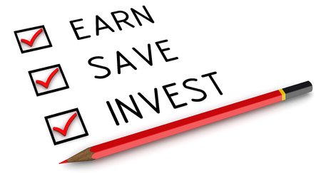 earn: Earn, save, invest. List with the marks