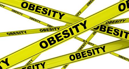 obesidad: OBESIDAD. Cintas de advertencia amarillas