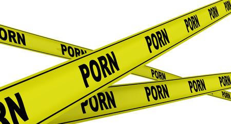 porn: ПОРНО. Желтые ленты предупреждения