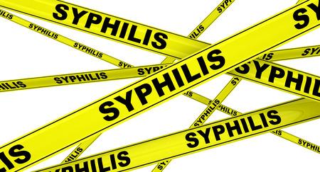 SYPHILIS. Yellow warning tapes