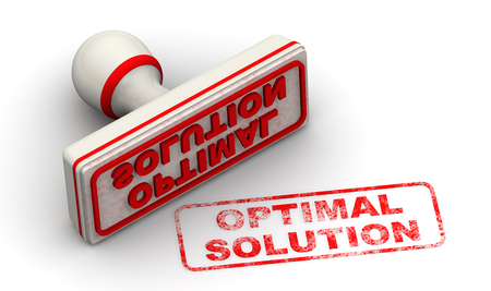 optimal: Optimal solution. Seal and imprint Stock Photo