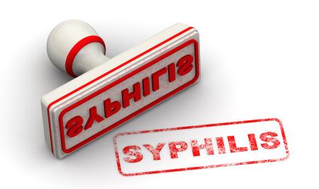 SYPHILIS. Seal und Impressum Standard-Bild - 44479415