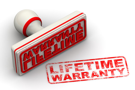objec: Lifetime warranty. Seal and imprint