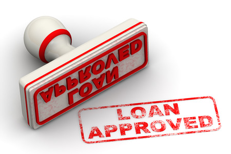 imprint: Loan approved. Seal and imprint