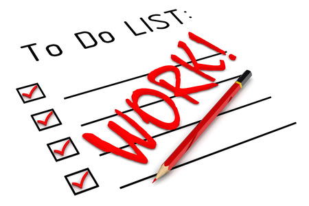 to do list: Work! To do list Stock Photo