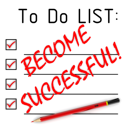 become: Become successful! To do list