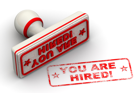 hired: You are hired! Seal and imprint