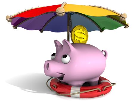 Fissare risparmio finanziario. Concetto