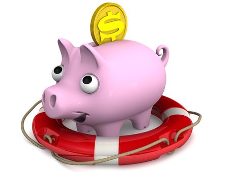protruding eyes: Deposit insurance. Concept